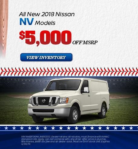 April |  New 2018 Nissan NV Models
