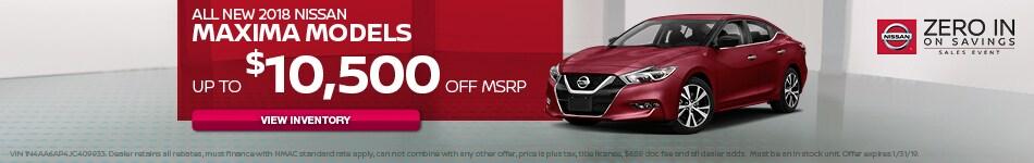 All New 2018 Nissan Maxima Models
