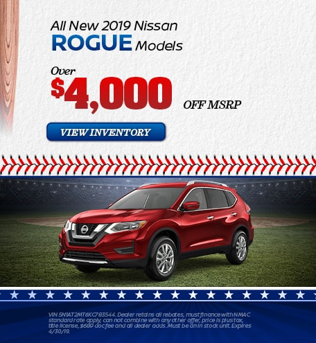 April | New 2019 Nissan Rogue