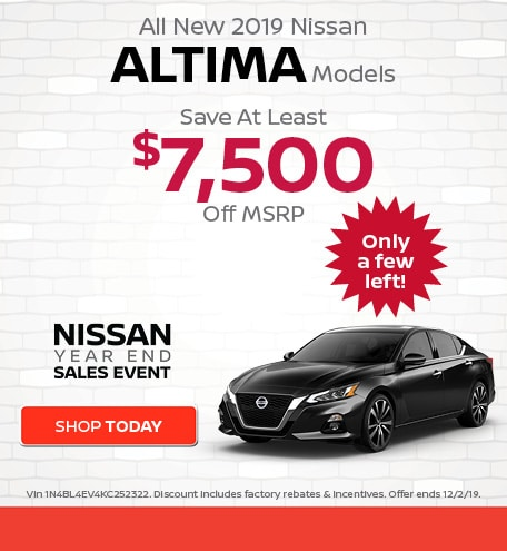 New 2019 Nissan Altima