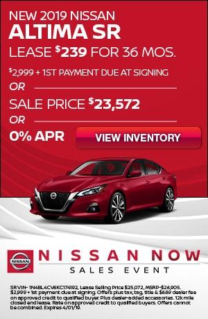 New 2019 Nissan Altima SR
