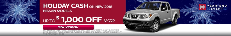 Holiday Bonus Cash on Select New 2018 Models
