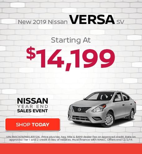 New 2019 Nissan Versa