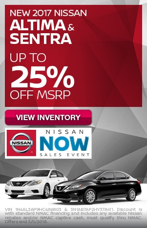New 2017 Nissan Altima and Sentra