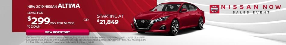 New 2019 Nissan Altima