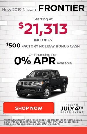 June | New 2019 Nissan Frontier