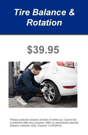 Tire Balance and Rotation