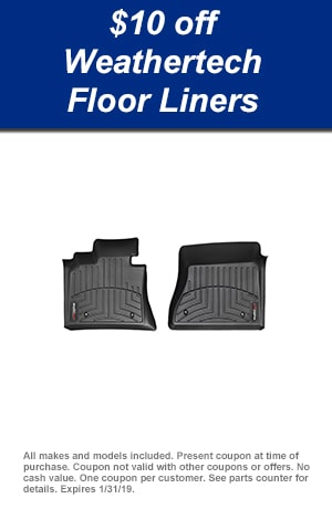 $10 off Weather Tech Floor Mats