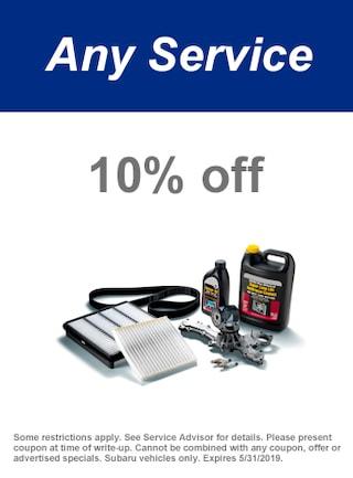 May | 10% Off Any Service