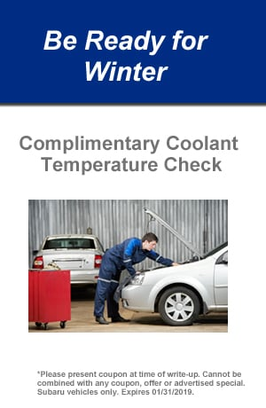 Complimentary Coolant Temperature Check