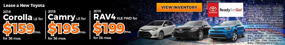 New 2018 Toyota Corolla, Camry and RAV4