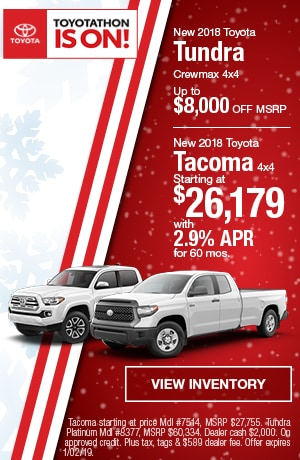 New 2018 Toyota Tacoma and Tundra