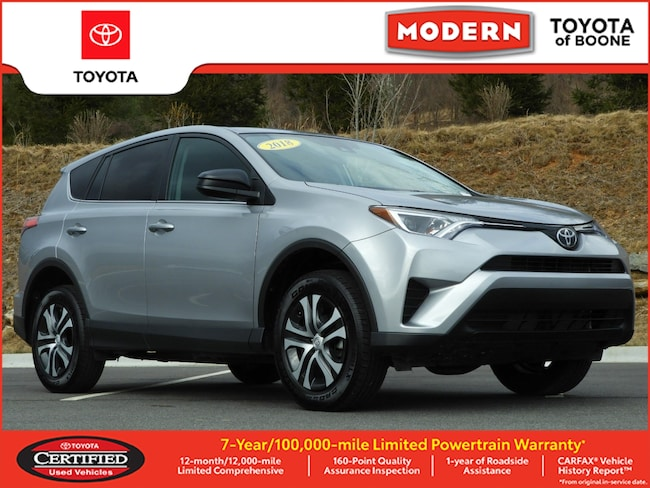 Certified Pre Owned 2018 Toyota RAV4 LE SUV Boone