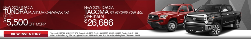 New 2019 Toyota Tacoma and Tundra