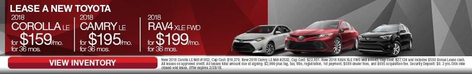 New 2018 Toyota Corolla Camry & RAV4