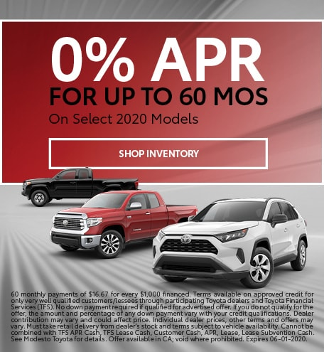 0% APR on Select Models May