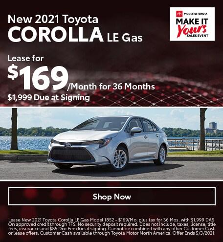 New 2021 Toyota Corolla LE Gas