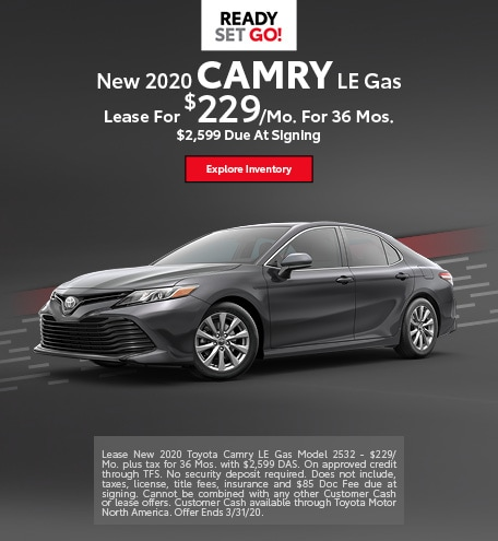 New 2020 Camry LE Gas