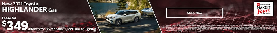 New 2021 Toyota Highlander Gas
