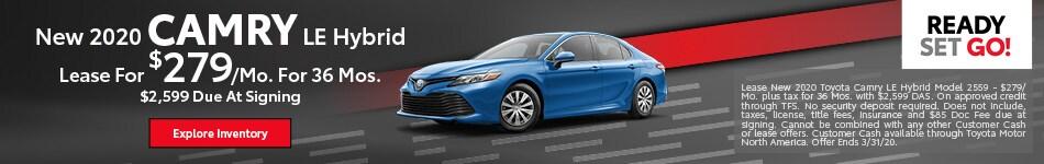 New 2020 Camry LE Hybrid