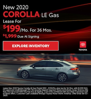 New 2020 Corolla LE Gas July