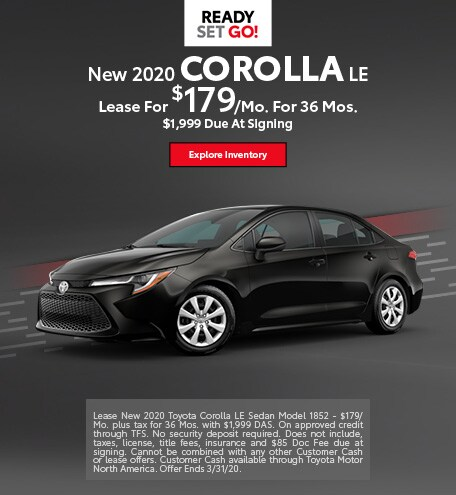 New 2020 Corolla LE