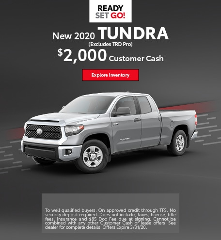 New 2020 Tundra (Excludes TRD Pro)