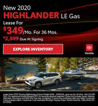 New 2020 Highlander LE Gas July