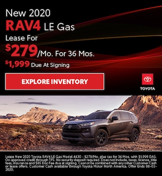 New 2020 RAV4 LE Gas July