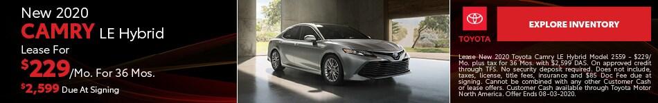 New 2020 Camry LE Hybrid July
