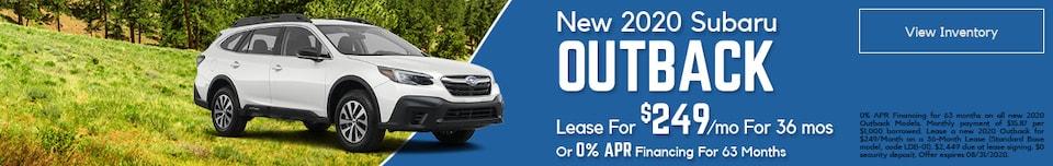 2020 Subaru Outback August
