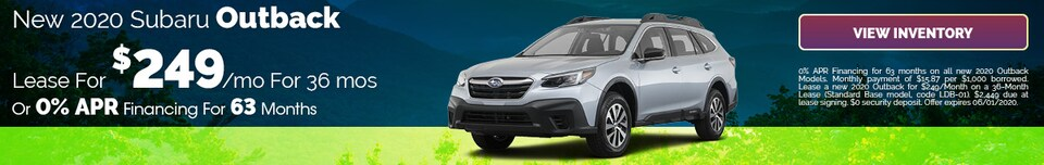 May 2020 New 2020 Subaru Outback Lease