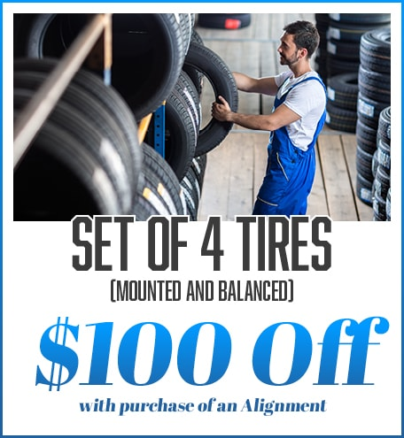 Set of Four Tires With Alignment Purchase