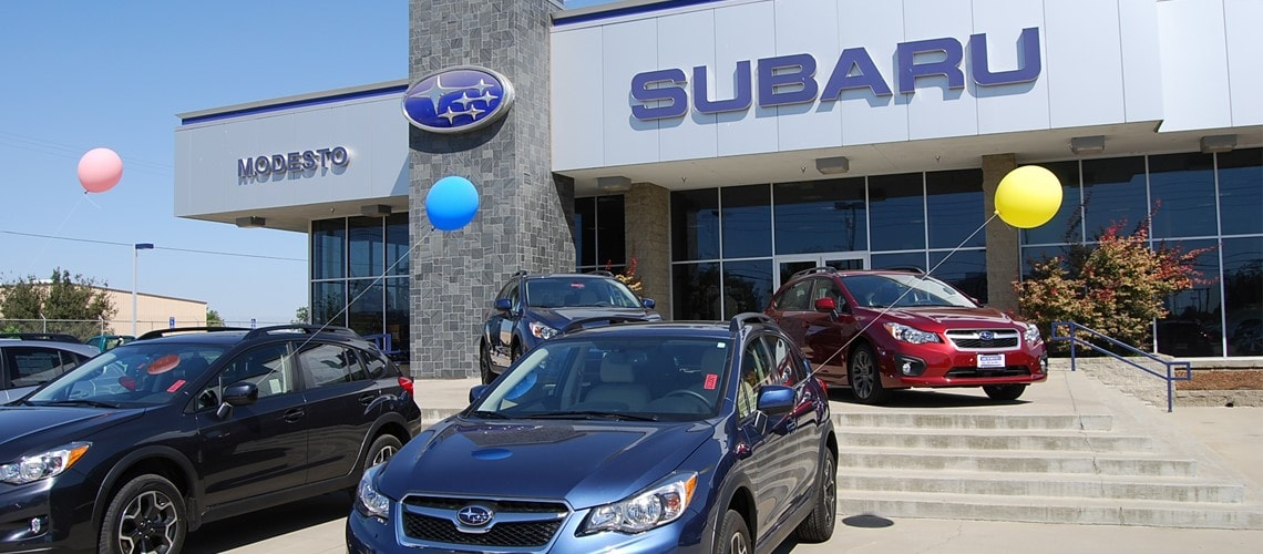 Look at Modesto Subaru's new car and used car inventory or schedule auto service