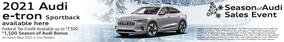 2021 Audi e-tron Sportback available here