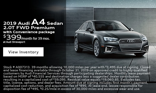 2019 Audi A4 $399 Lease Offer
