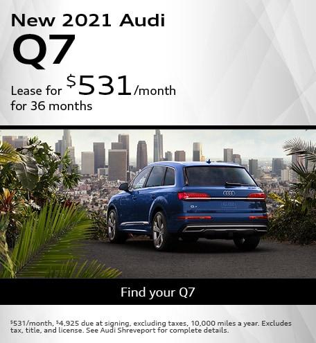 New 2021 Audi Q7- April Offer