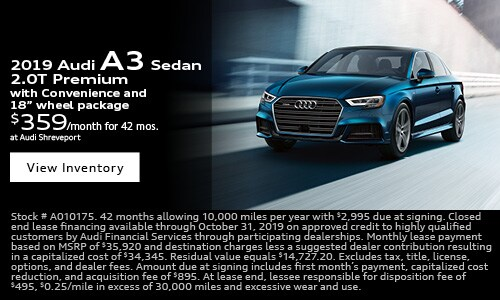 2019 Audi A3 $359 Lease Offer