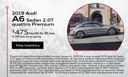 2019 Audi A6 $475 Lease Offer Season of Audi