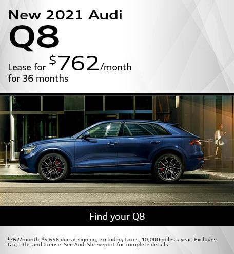 New 2021 Audi Q8- April Offer