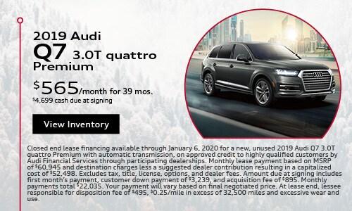2019 Audi Q7 $565 Lease Offer Season of Audi