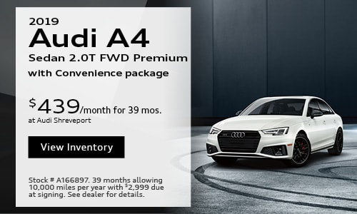 2019 Audi A4 $439 Lease Offer