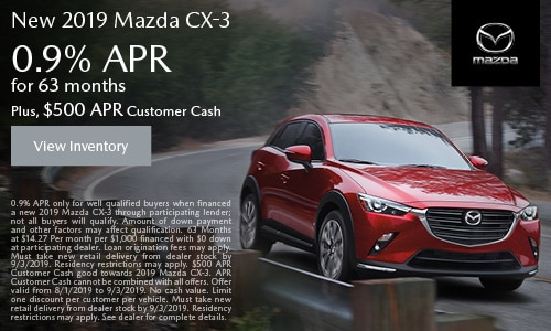 August Mazda CX-3 APR Offer