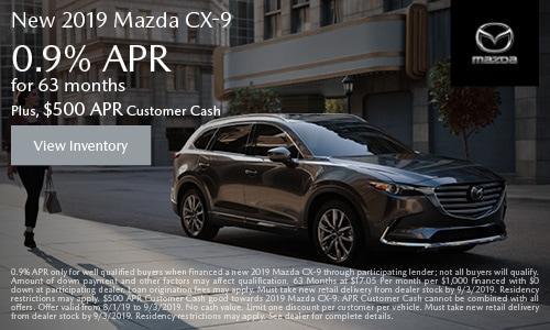 August Mazda CX-9 APR Offer