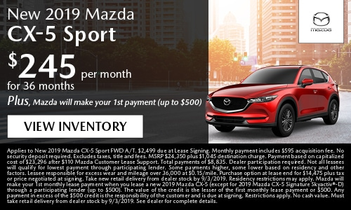 August Mazda CX-5 Lease Offer