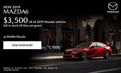 New 2019 Mazda6 $3,500 off