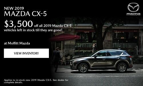 New 2019 Mazda CX-5 $3,500 off