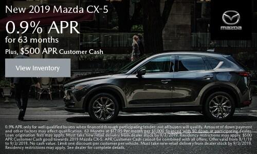 August Mazda CX-5 APR Offer