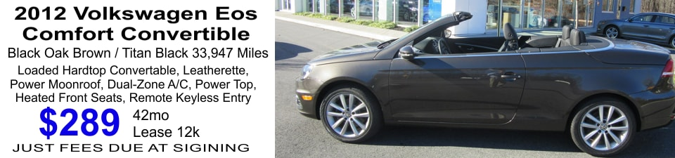 2012 pre owned volkswagen eos lease special in mohegan lake ny mohegan lake volkswagen. Black Bedroom Furniture Sets. Home Design Ideas