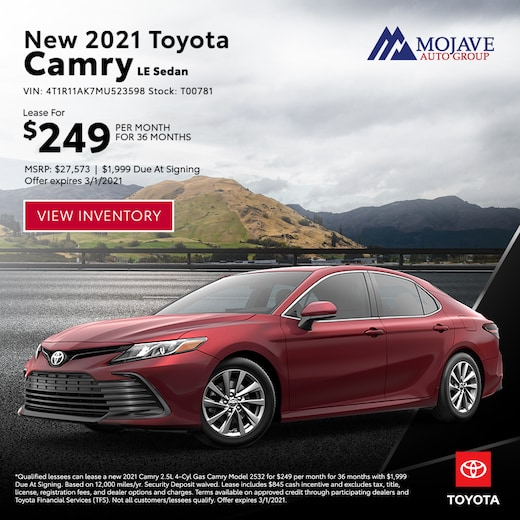 2021 Toyota Camry LE Special